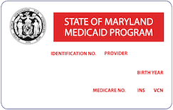 Maryland Medicaid Card