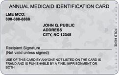 North Carolina Medicaid Card