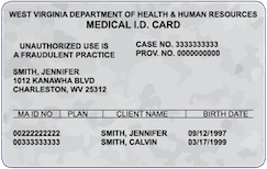 West Virginia Medicaid Card